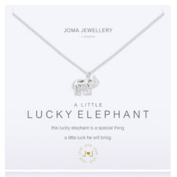 Joma Jewellery a little Lucky Elephant Silver Necklace