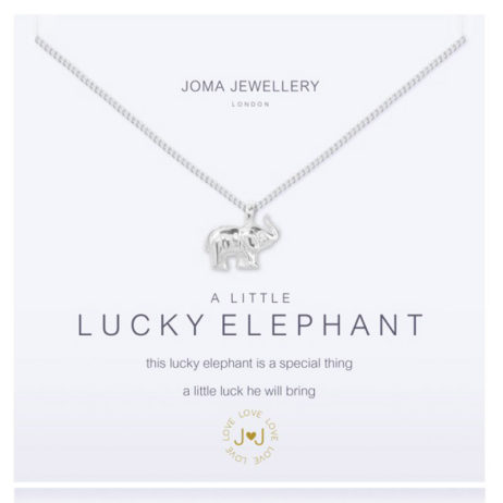 Joma Jewellery a little Lucky Elephant Silver Necklace 1955
