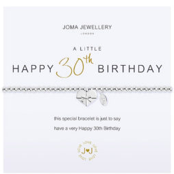 Joma Jewellery a little HAPPY 30TH BIRTHDAY Silver Bracelet