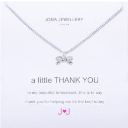 Joma Jewellery a little Silver Thank You Bridesmaid Necklace