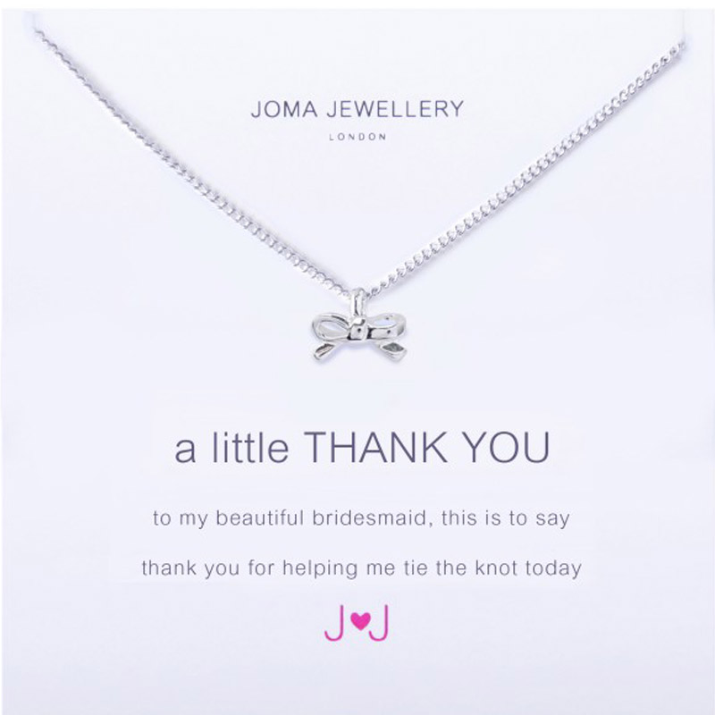Joma Jewellery A Little Thank You Bracelet For Bridesmaids