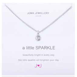 Joma Jewellery a little Sparkle Silver Necklace