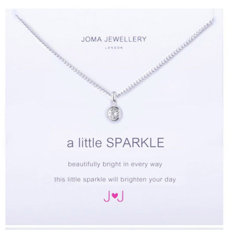 Joma Jewellery a little Sparkle Silver Necklace 495 EOL