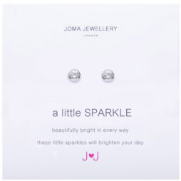 Joma Jewellery a little Sparkle Silver Earrings