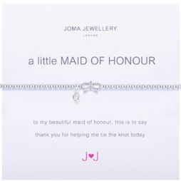 Joma Jewellery a little Maid Of Honour Silver Bracelet