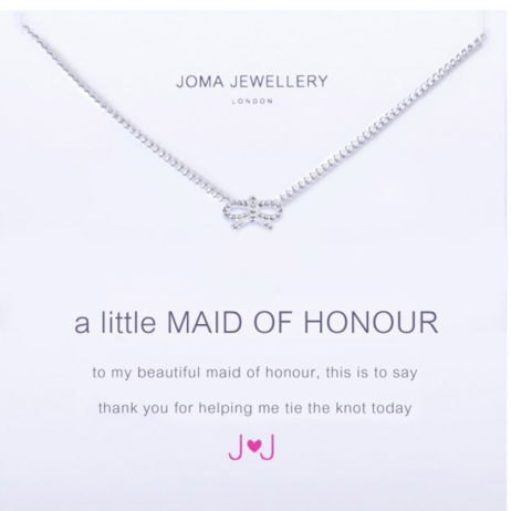 Joma Jewellery a little Maid Of Honour Silver Necklace 868 EOL
