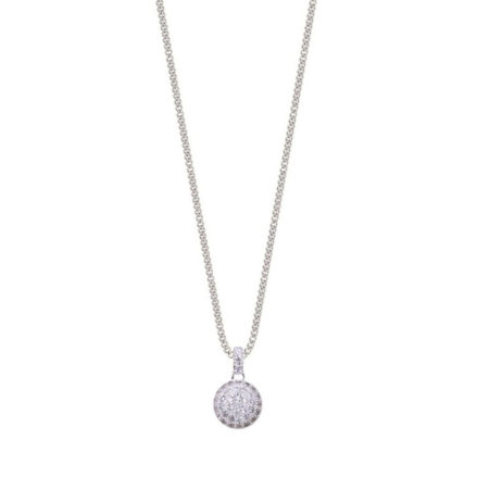 Joma Jewellery a little Delilah Pave Disc Thank You Necklace 965
