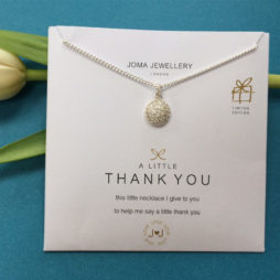 Joma Jewellery a little Delilah Pave Disc Thank You Necklace