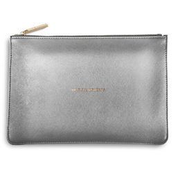 Katie Loxton Magical Moments Pouch Metallic Charcoal