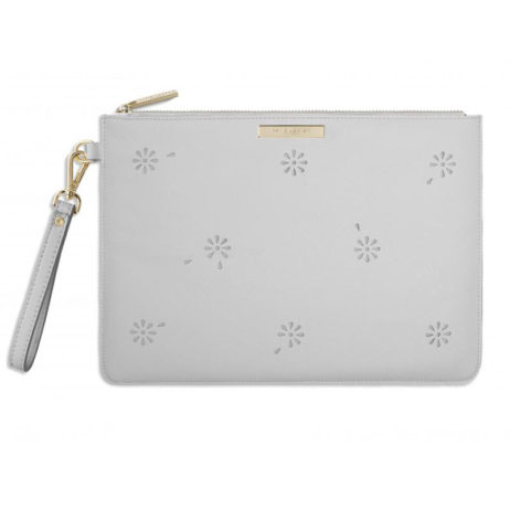 Katie Loxton Beautiful Blossom Large Grey Pouch Clutch Bag