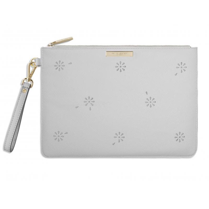 Katie Loxton Beautiful Blossom Large Grey Pouch Clutch Bag ...