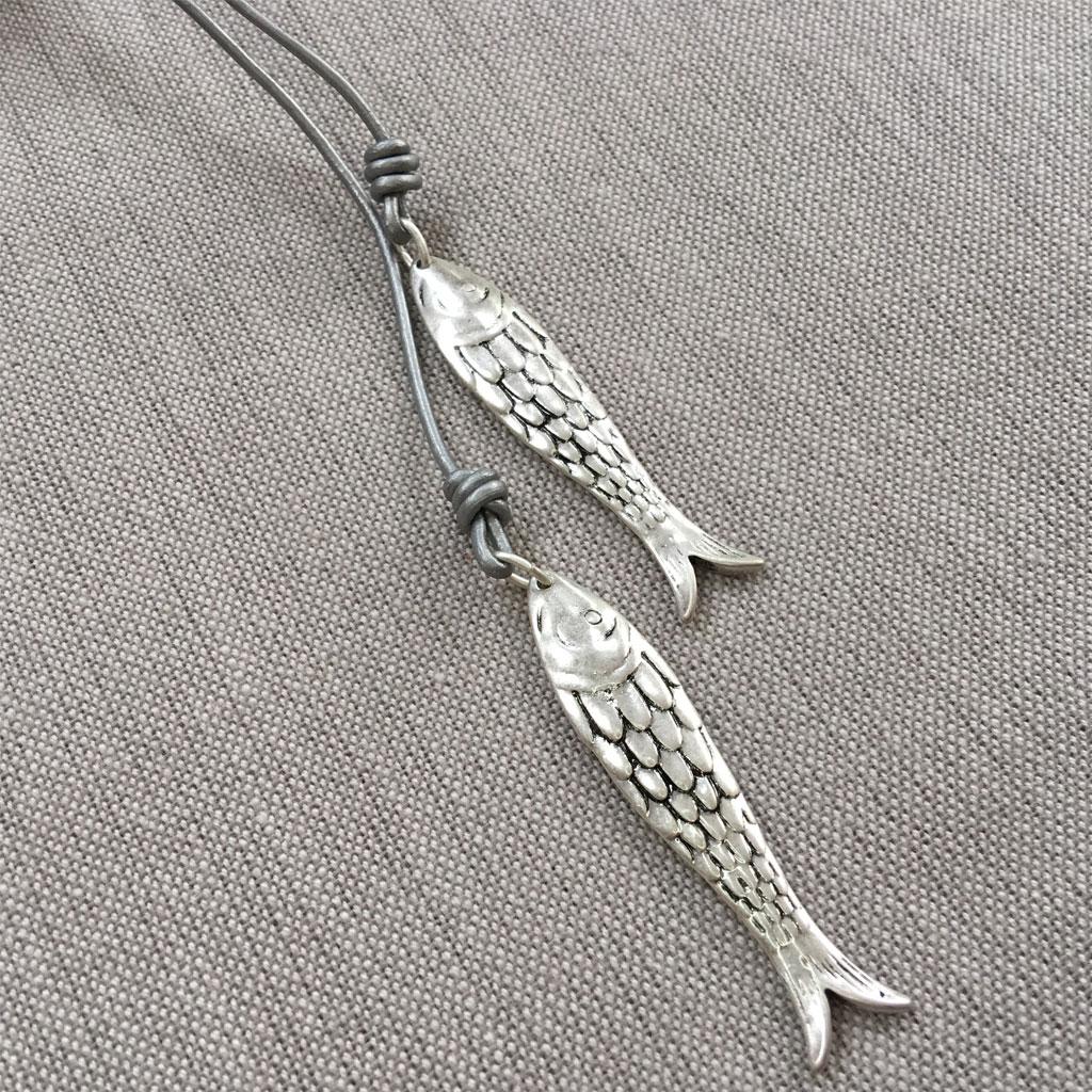 Hot tomato jewellery long silver fish pendant necklace eol hot tomato jewellery long silver fish pendant necklace eol aloadofball Choice Image