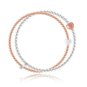 Joma jewellery Silver and Rose Gold forever bracelet