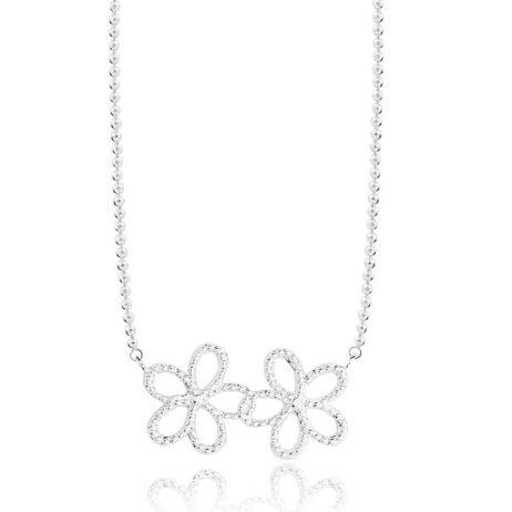 Joma Jewellery Silver Ditzy Daisy Necklace 1957 - EOL