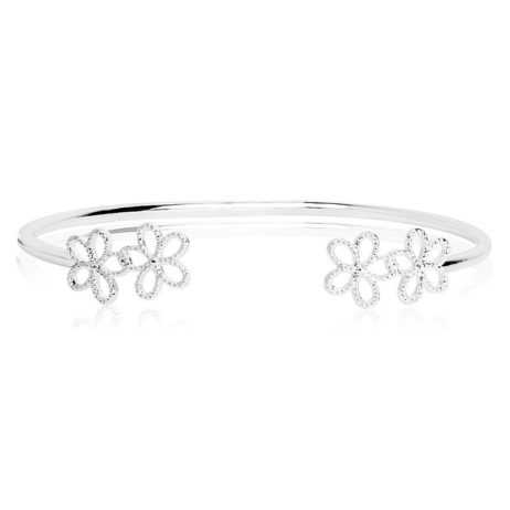 Joma Jewellery Silver Ditzy Daisy Bangle 1958