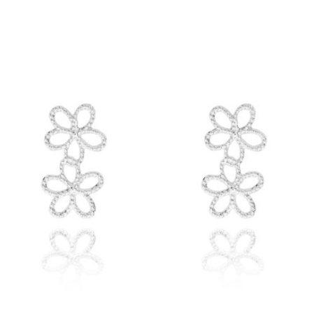 Joma Jewellery Silver Ditzy Daisy Stud Earrings