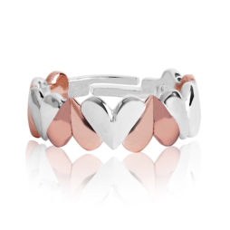 Joma Jewellery VALENTINA Silver and Rose Gold Adjustable Ring