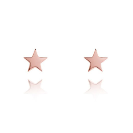 Joma Jewellery SIENA Rose Gold Heart Earrings