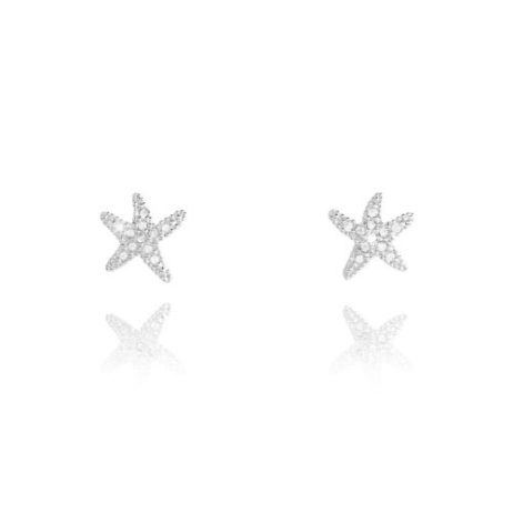 Sparkling Joma Jewellery SOFIA Silver Starfish Earrings 1978