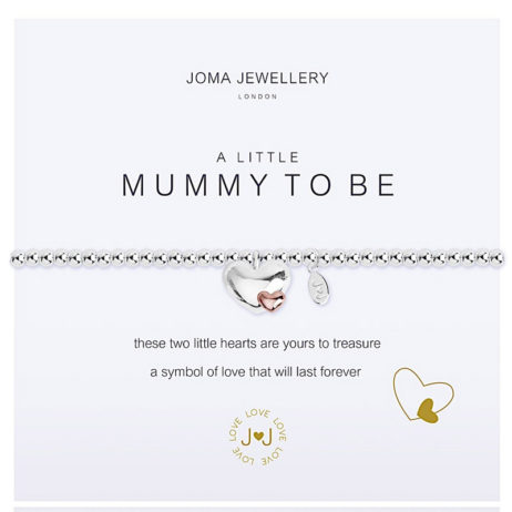 Joma Jewellery a little Mummy To Be Silver Bracelet 2071