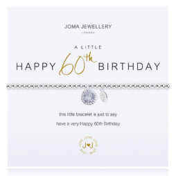 Joma Jewellery a little HAPPY 60th BIRTHDAY Silver Bracelet