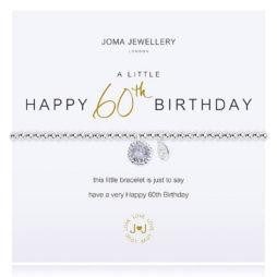 Joma Jewellery a little HAPPY 60th BIRTHDAY Silver Bracelet