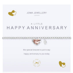 Joma Jewellery a little HAPPY ANNIVERSARY Silver Bracelet 2081