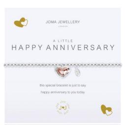 Joma Jewellery a little HAPPY ANNIVERSARY Silver Bracelet