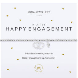 Joma Jewellery a little HAPPY ENGAGEMENT Silver Bracelet 2083