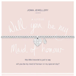 Joma Jewellery a little Will You Be My Maid Of Honour Silver Bracelet