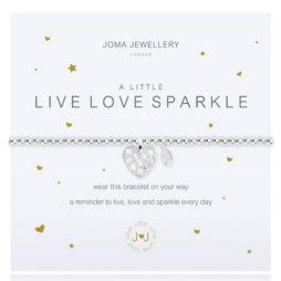 Joma Jewellery a little LIVE LOVE SPARKLE Silver Bracelet