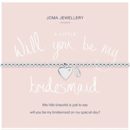 Joma Jewellery a little Will You Be My BRIDESMAID Silver Bracelet