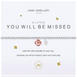 Joma Jewellery a little YOU WILL BE MISSED Silver Bracelet