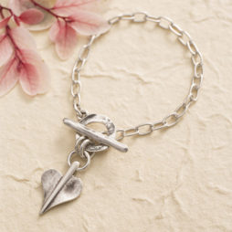 Danon Jewellery Silver Mini Leaf of Love Links Bracelet *