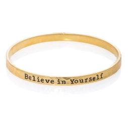 Danon Jewellery Believe In Yourself Matt Gold Bangle