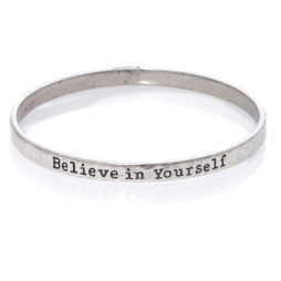 Danon Jewellery Believe In Yourself Silver Bangle