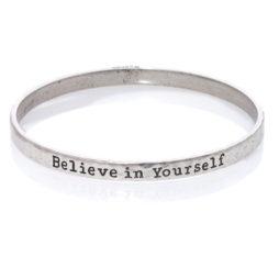 Danon Jewellery Believe In Yourself Silver Bangle