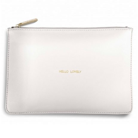 Katie Loxton Hello Lovely Pouch Chalky White EOL