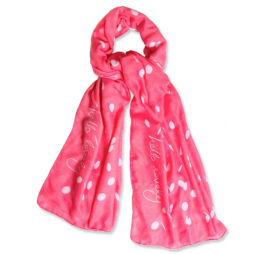 Katie Loxton Hello Lovely Scarf Hot Pink