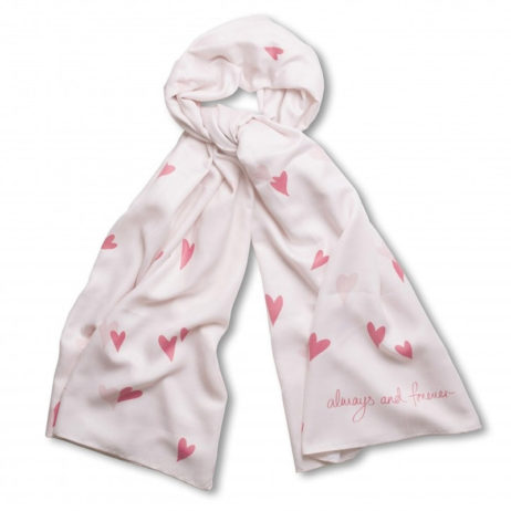 Katie Loxton Always And Forever Scarf Pink EOL