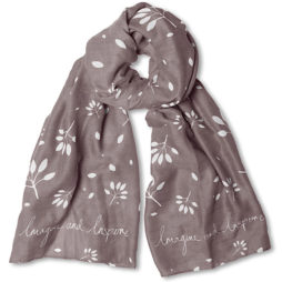 Katie Loxton Imagine And Inspire Scarf Grey
