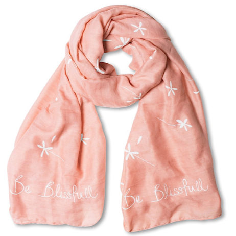 Katie Loxton Be Blissfull Scarf Pale Pink
