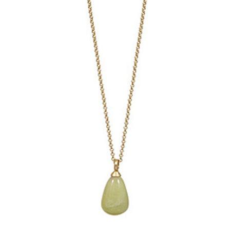 Sence Copenhagen Gold Aloha Necklace with Jade Pendant