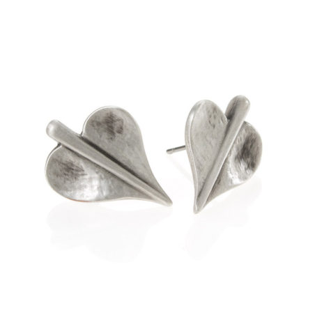 Danon Jewellery Silver Mini Leaf of Love Stud Earrings