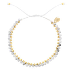 Estella Bartlett Semi Precious Howlite Stone Gold Plated Friendship Bracelet