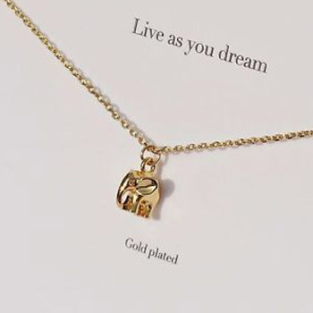 Estella Bartlett Gold Plated Elephant Live As You Dream Necklace