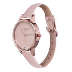 Joma Jewellery Ava Blush Leather Rose Gold Watch