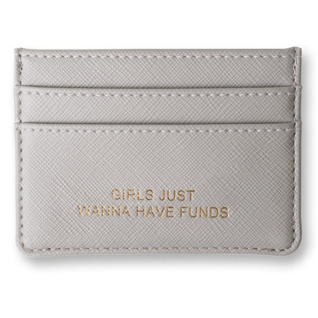 Katie Loxton Card Holder Grey Girls Just Wanna Have Funds