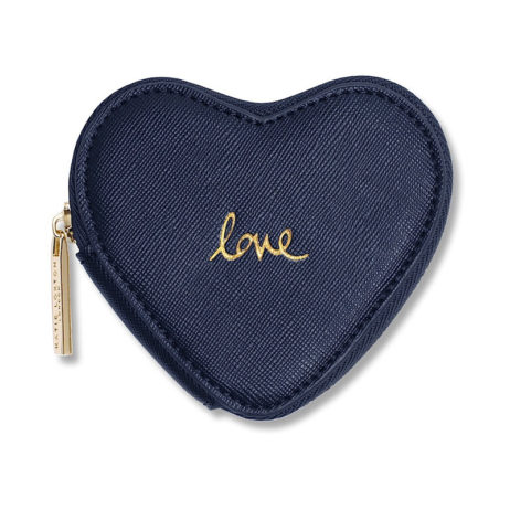 Katie Loxton Love Heart Coin Purse Navy EOL