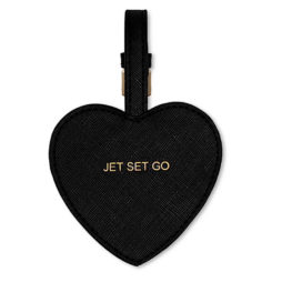 Katie Loxton Jet Set Go Luggage Tag Black *